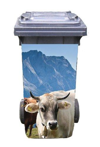 Mülltonnen-Aufkleber Motiv Alm 37 cm x 82 cm für 240 l Tonne Einzigartige Mülltonne