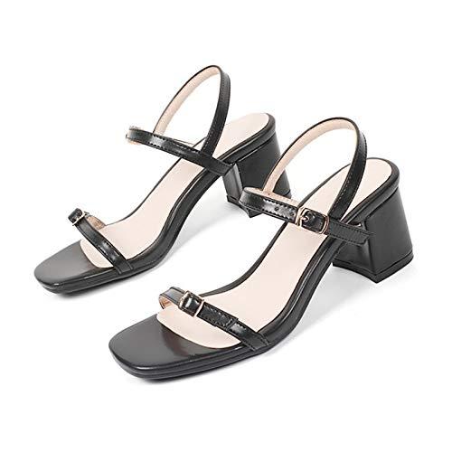 MENGLTX High Heels Sandalen 2019 Große Größe 31-44 Sommer Sandalen Frauen Plattform Weibliche High Heels Peep Toe Schuhe Frau 4 Schwarz