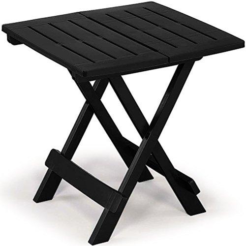 Table en plastique Adige – 45 cm x 43 cm x 50 cm Différents coloris. Noir