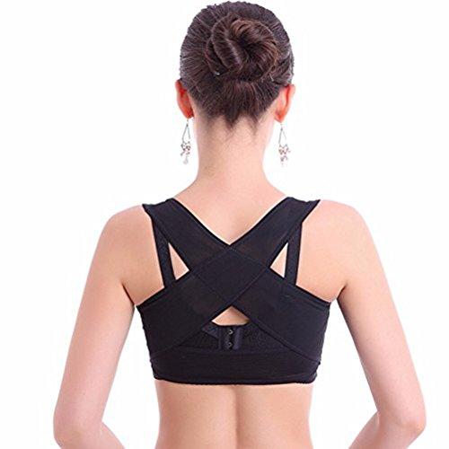 ULTNICE Geradehalter zur Haltungskorrektur Rückenbandage für Haltung Brust BH Unterstützung - Größe L
