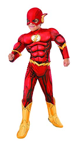 Kid Kostüm Flash - Rubie's Costume DC Superhelden Flash Deluxe Kinderkostüm