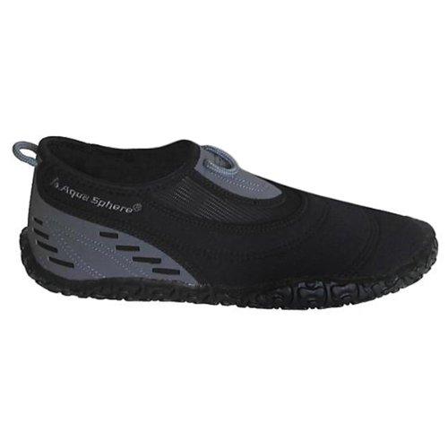 AQUA SPHERE - Herren Beachwalker - Schwarz Schuhe in Übergrößen schwarz - grau