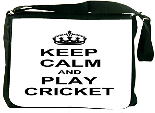 Snoogg Keep Calm And Play Cricket Laptop Messenger Bag