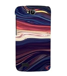 PrintVisa Colorful Wave Design 3D Hard Polycarbonate Designer Back Case Cover for Huawei Honor Holly