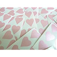 90 Labels , 22x20mm Hearts , Pink , Colour Code Stickers , Self-Adhesive Sticky Coloured Hearts