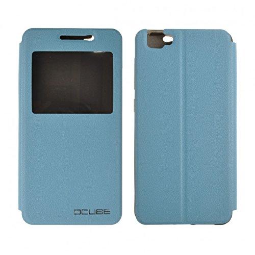 Cubot X15 mit Silikon Etui Pu Leder Kunstleder Flip Cover Tasche Hülle Case Handytasche Handyhülle Schutzhülle Etui Halter Halterung Handyhalter (Blau mit S-View)