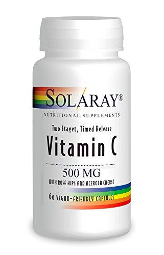 Solaray Vitamin C 500mg Zwei-Stufen-Time Release 60 Kapseln
