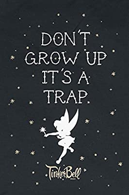Tinker Bell Don´t Grow Up Sac de Gym noir