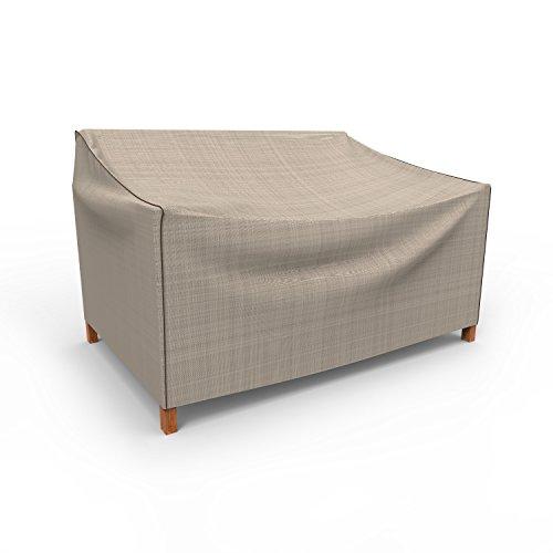 en Kleine Outdoor Sofa Abdeckung für Love Seat/bench p3a01pm1, Tan Tweed (31H x 74W x 31D) ()