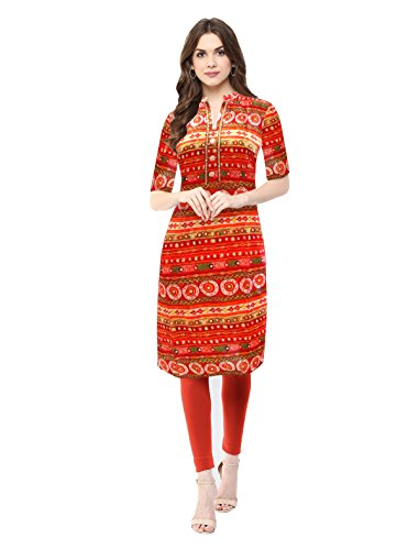 1-Stop-Fashion-Womens-Multi-Coloured-Cotton-Kurti