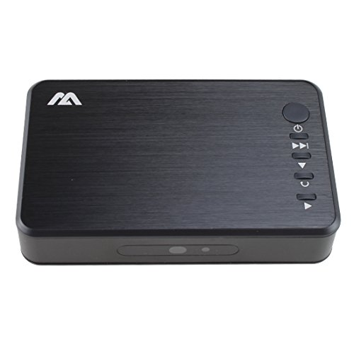 AGPTEK USB 2.0 1080P(1920×1080) HD HDMI Media Player RMVB MKV SD SDHC USB JPEG - avec Optical Stereo L/R Sortie Audio, télécommande IR