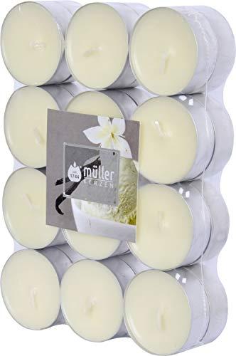 24er Duftteelicht von Müller Kerzenfabrik, neue Düfte, Duftrichtung:Vanille