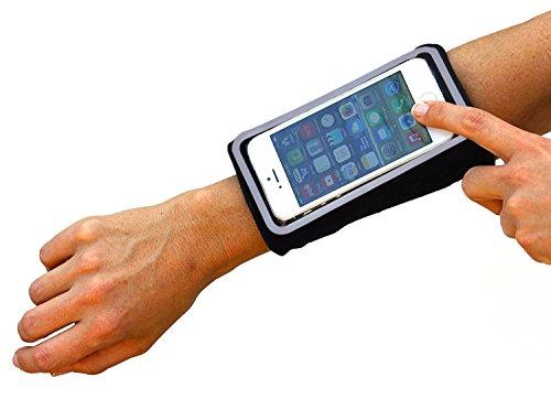 Revenlo Fascia da avambraccio compatibile con Samsung Galaxy A3 braccialetto sportivo fascia sportiva da avambraccio Nero