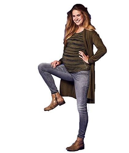 Lycra Straight Leg Hose (Love2Wait Damen Sophia Schwangerschafts Jeans, Blau (Dark Aged), XX-Small)