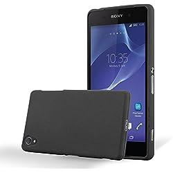 Cadorabo Coque pour Sony Xperia Z1 en Frost Noir - Housse Protection Souple en Silicone TPU avec Anti-Choc et Anti-Rayures - Ultra Slim Fin Gel Case Cover Bumper