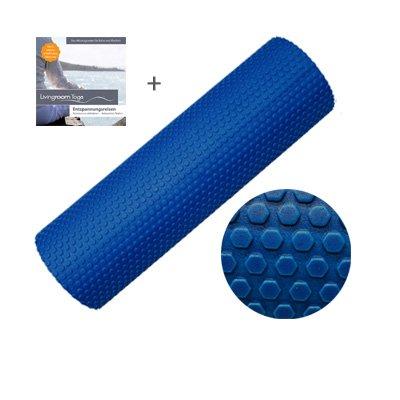 """Pilates-Rolle """"Vital Struktur"""" von Livingroom Yoga. Schaumstoffrolle mit leichter Noppen-Struktur für Fitness, Yoga, Gymnastik. 45 x 15 cm (jetzt mit Gratis CD)"""