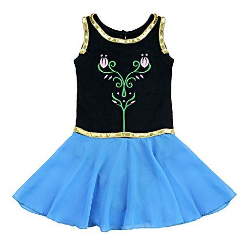 Freebily Girls Kids Sequined Ballet Dance Dress Tutu Skirt Gymnastic Leotard Ballerina Dancewear Costumes