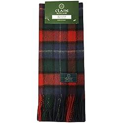 TARTAN TWEEDS - Bufanda 100% lana, diseño cuadros escoceses, varios colores multicolor Kilgour Modern Talla única