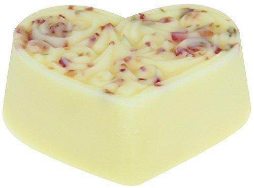 Body-butter Massage (Greendoor Bodycreme-Herz Rosenblüte, Body Butter, festes Massageöl, 80g Hautpflege mit BIO Sheabutter + BIO Kakaobutter, natürlich ohne Tierversuche, Geburtstags-Geschenk Natur Weihnachten)