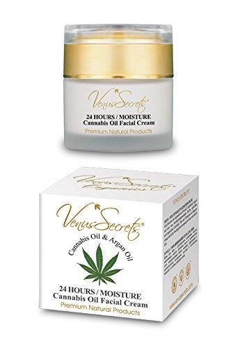 Viso crema idratante con olio di Cannabis–per donne–50ml–Deep idratante e idratante