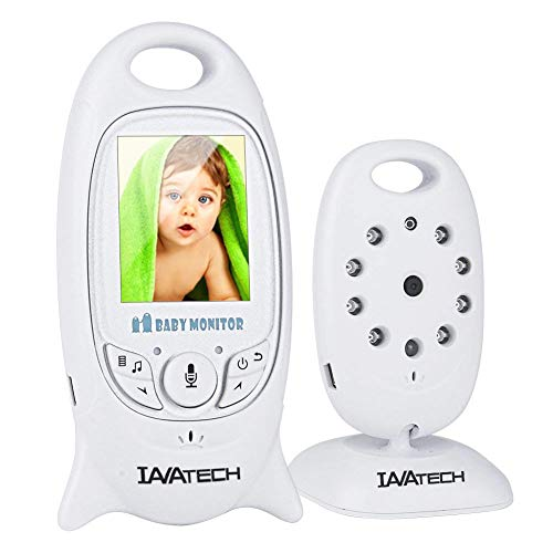 Babyphone mit Kamera, IAVATECH Video Babyphones Baby Monitor 2.0 Zoll Digital Baby Überwachung mit Temperatursensor Nachtsicht Gegensprechfunktion Usw