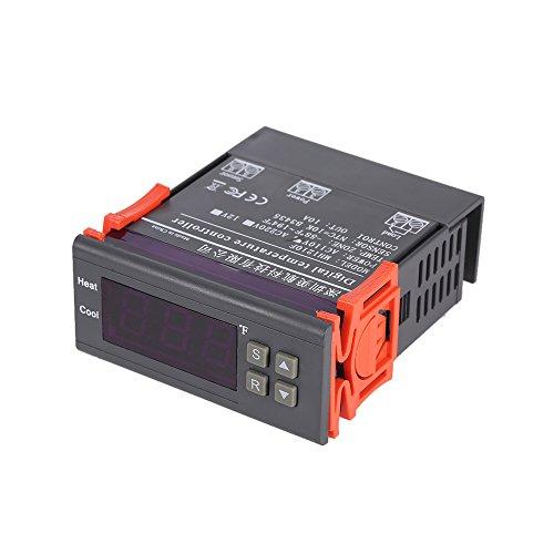 KKmoon 10A 110V Digital Temperaturregler LED Anzeige, Messbereich - 58 ~ 194 Fahrenheit NTC Temperature Sensor Temperaturregler Controller Heiz und Kühlregelung Thermoelement - Digitale Anzeige-controller