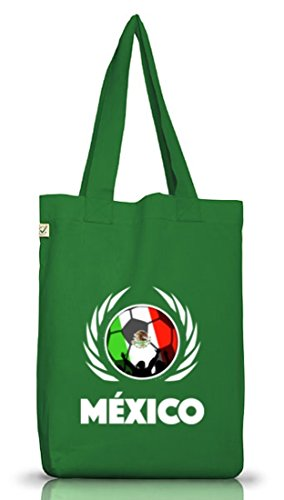 Mexico Fussball WM Fanfest Gruppen Jutebeutel Stoffbeutel Earth Positive Fußball Mexiko Moss Green