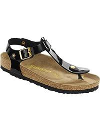 G1KdzVCEwk Classic Kairo Birko-Flor, Damen Knöchelriemchen Sandalen mit Keilabsatz, Grün (Khaki), 41 EU