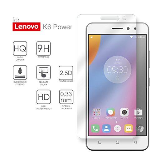 Hartglas Schutzfolie Lenovo K6 Power, eProte® ultraslanke Gehärtetem Glass Folie für Lenovo K6 Power, 5,0 Zoll - 9H Glashärte, Anti-Schock, Kratzfeste & Ölabweisende Beschichtung, Einfach zu säubern, HD Transparenz & Feingefühl