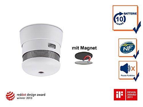 Set 2002-023 Cavius Mini-Design 10-Jahres Rauchmelder inkl. Magnethalter, 2002-023Set-1