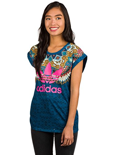 Brasilianische Frauen T-shirt (adidas Borbomix Roll Up T-Shirt Damen 38 - S/M)