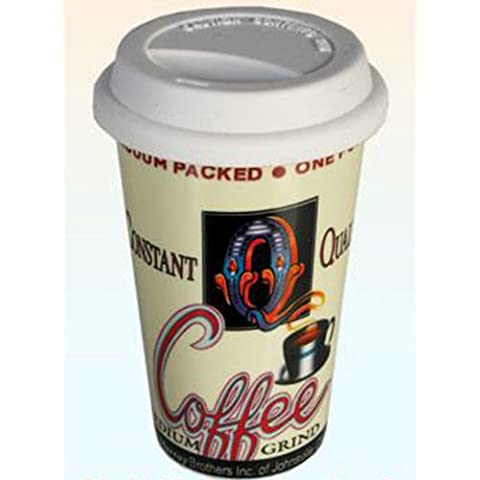 Tazza da Caffé in Ceramica con Tappo 4029811261093 Cucina Gourmet Utensili da (Go Gourmet Coffee)