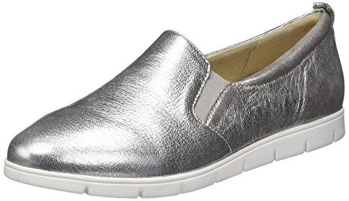 Caprice 24667, Mocassini Donna Grigio (Grey Metallic)