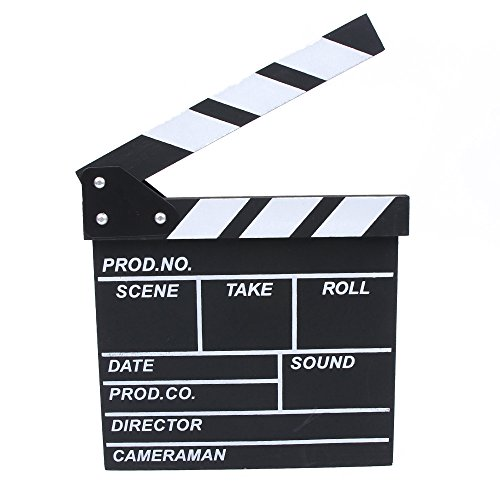 MAXGOODS Film TV Show Schneiden Aktion Holz Movie Clapboard Theater Party Prop Dekoration (Halloween Prop Tv Show)