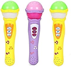 SUPER TOY Self Voice Singing Music Show Microphone Pack with 5 Changer and Clap for Yourself Button (Multicolour)