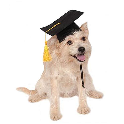 Haustier-Staffelungs-Kappen-kleiner Hundestaffelungs-Hut-lustiges Haustier-Staffelungs-Kostüm mit schwarzem Staffelungs-Hut