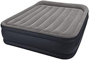 Intex Unisex's Queen Deluxe Raised Air Bed, Light Grey, P 64136