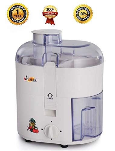 ROYAL WORLD VOLMAX 450 W ABS Body Electric Fruits and Vegetable Juicer, Centrifugal Extractor (White)