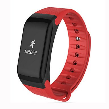 LIANHUAJIEDAO Lemumu SmartBand Blutdruck F1 Smart Bracelet Watch Pulsmesser SmartBand Wireless Fitness für Android IOS-Telefon, Rot