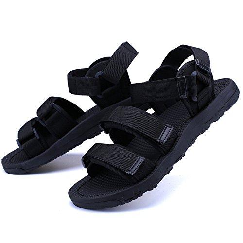 ZHANGRONG-- Herren Sandalen - Flexible Herren Sandalen, Velcro Straps Sommer Flip Flops, Durable Flachen Sandalen, Outdoor Schuhe - Für Reisen, Strand, Pool ( Farbe : Blau , größe : EU42/UK8.5/CN43 ) Velcro-strap Sandalen