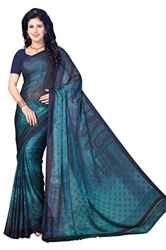 Rani Saahiba Satin Georgette Digital Print Saree ( SKR3757_Blue )
