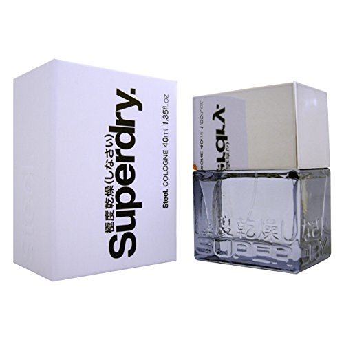 Superdry Steel Eau de Toilette 40 ml, 1er Pack (1 x 40 ml) -