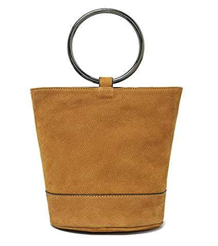 Xinmaoyuan Damen Handtaschen Farbe Lady Leder Metall Ring Rindsleder öffnen