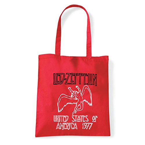 Art T-shirt, Borsa Shoulder Led Zeppelin Rosso