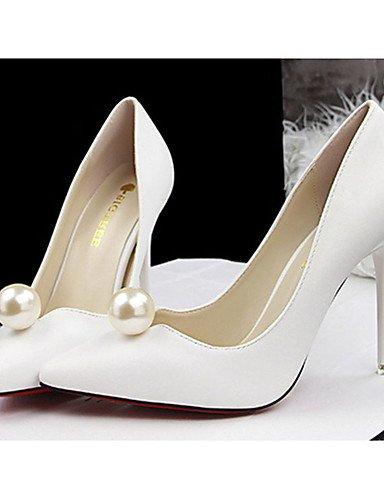WSS 2016 Chaussures Femme-Décontracté-Noir / Rouge / Blanc / Argent / Gris / Amande-Gros Talon-Talons-Talons-Laine synthétique beige-us6.5-7 / eu37 / uk4.5-5 / cn37