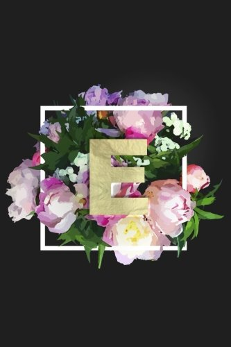 E: Monogram Initial E Notebook for Women + Girls | Pretty Floral por Nifty Notebooks