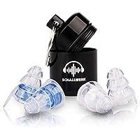 SCHALLWERK – 23 dB Music+ Gehörschutz Ohrstöpsel – Dämpft Lärm & Erhält Tonqualität – Ideal Für Musik, Festivals, Arbeiten – 2 Zusätzliche Stöpsel Für Kleine Ohren