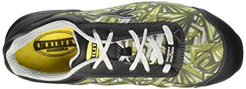 Diadora D-399 Textile Low S1P Hro Src Scarpe antinfortunistiche, Unisex adulto Grigio/Verde