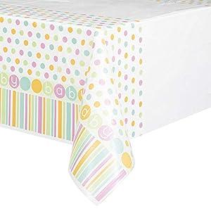 Partido Ênico 7 x 4.5 ft Baby Shower plástico Mantel (pastel)