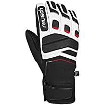 Reusch Gants De Ski Racing Profi SL Black White Fire Red 174b8e1ab7f
